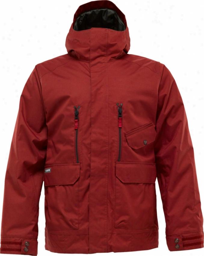 Burton Twc Bit O Heaven Snowboard Jacket Biking Red