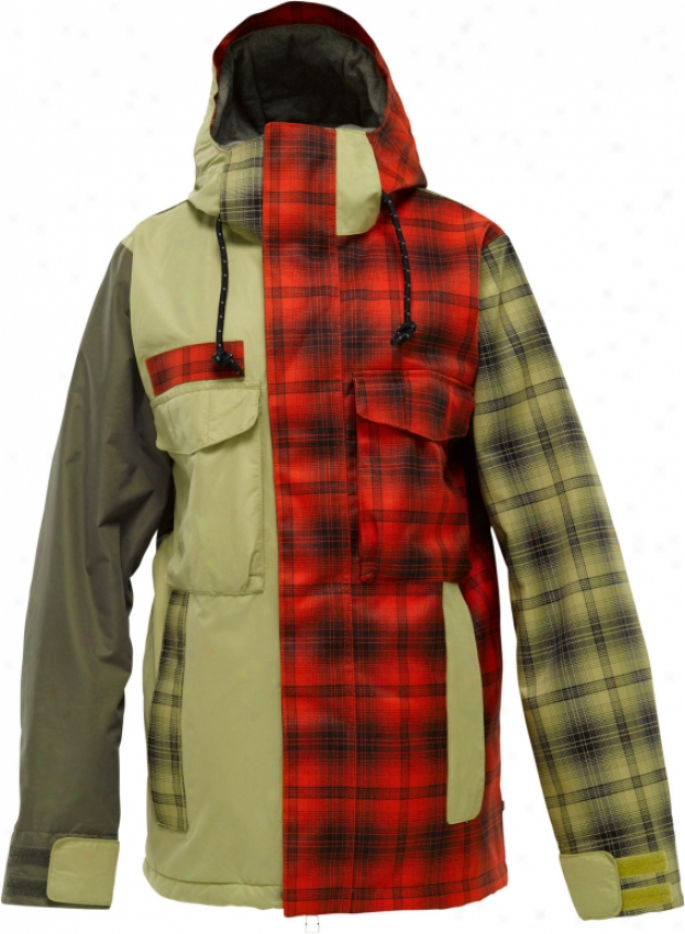 Burton Uptown Snowboard Jacket Burnout Colorblock