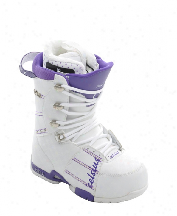Celsius Cloud 9 Snowboar dBoots White/purple