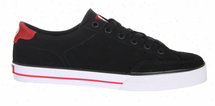 Circa Al50 Classic Skate Shoes Black/red