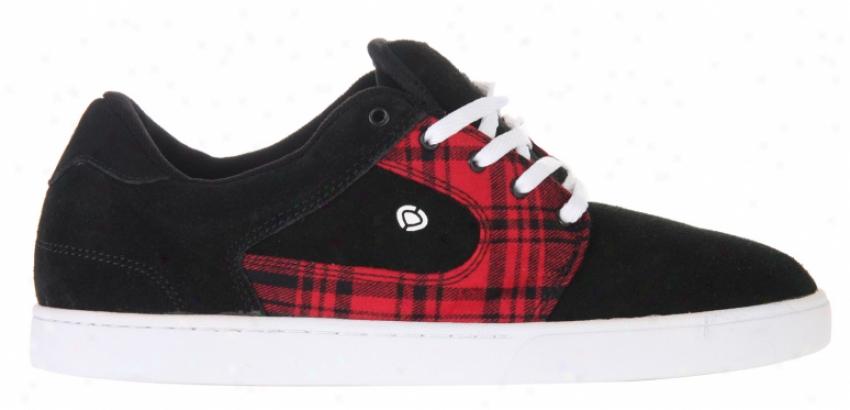 Circa Talon Skate Shoes Black/black Lava Plaid