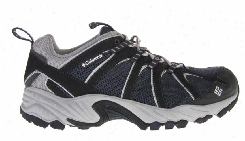 Columbia Kaibab Hiking Shoes Sea Blue/metallic Silver