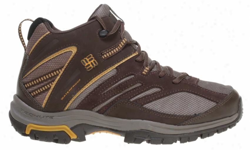 Columbia Shasta Rifge Mid Omni-tech Hiking Boots Bungee Cord