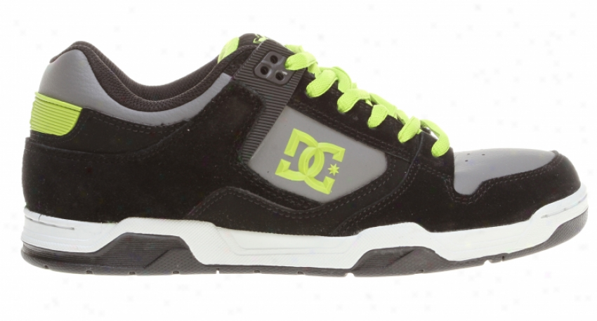 Dc Flawless Skate Shoes Blaack/battleship/soft Lime