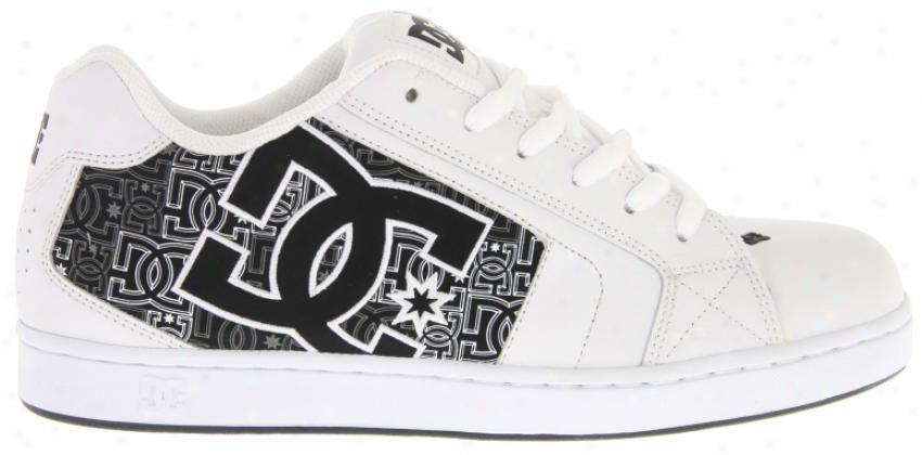 Dc Net Se Skate Shoes White/black/print