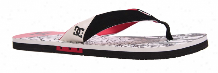 Dc Vapor Sandals Wht/bk/t Red