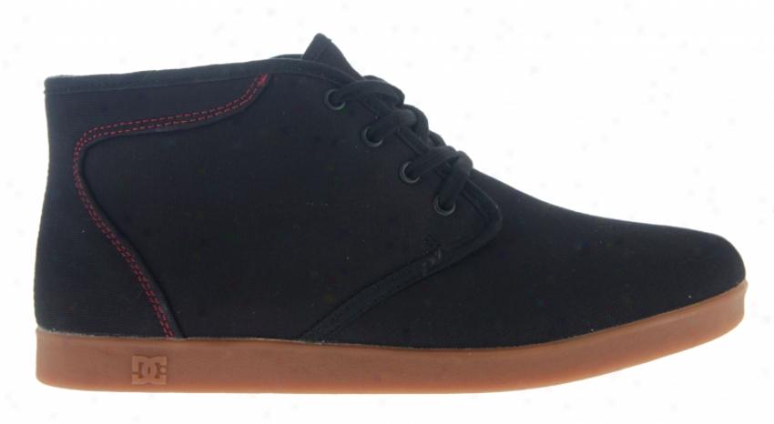 Dc Village Hi Tx Skate Shoes Black/true Red