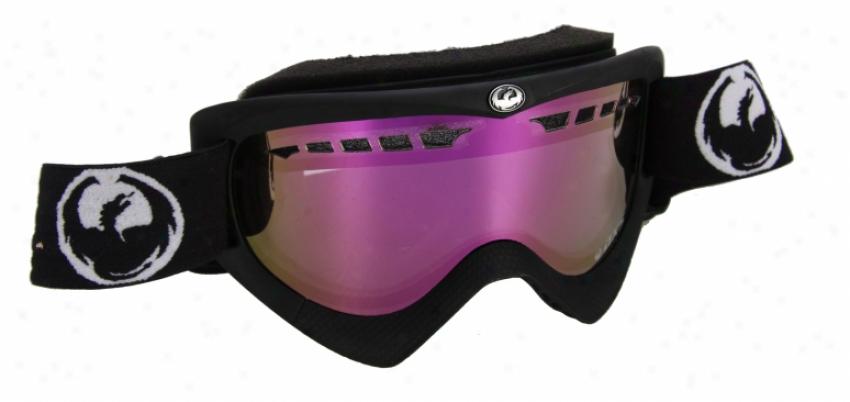 Dragon Dxs Snowboard Goggles Coal/pink Ionized Lens