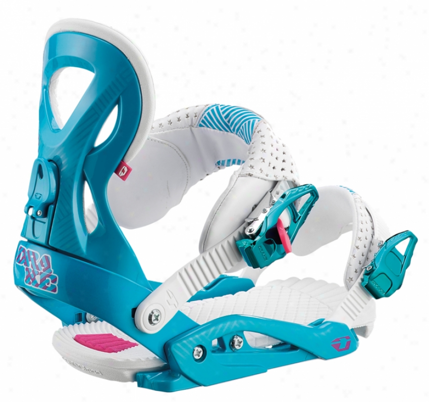 Drake Jade Snowboard Bindings Blue