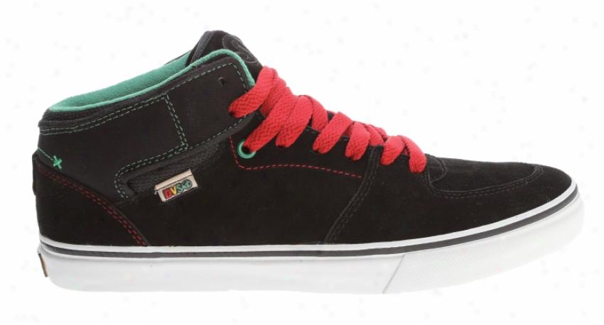 Dvs Torey Skate Shoes Black Rasta Suede
