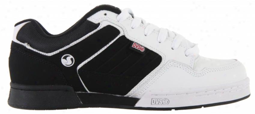 Dvs Transom Skate Shoes Black/white Leather