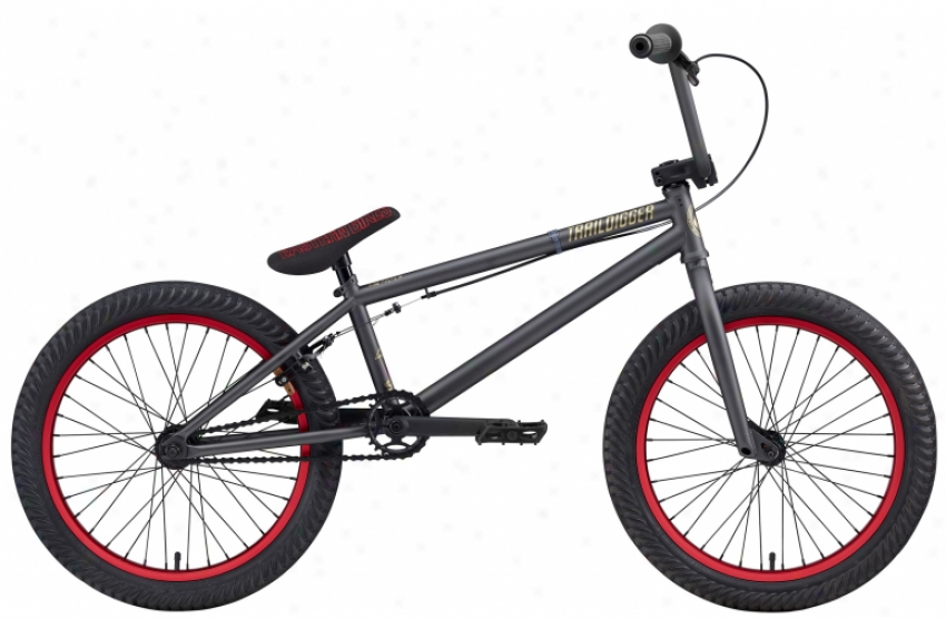 """Eastern Traildigger Bmx Bike Matte Graphite W/ Red 20"""""""
