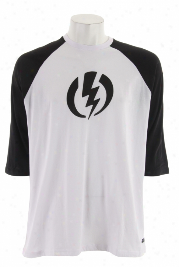 Marked by ~ity Big Volt Raglan T-shirt Black/white