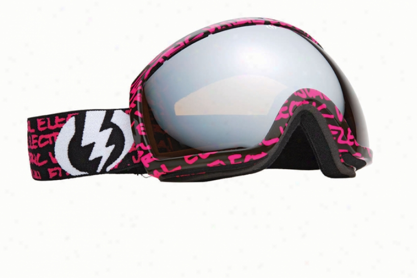 Electric Eg2 Snowboar Goggles Purple Script Bronze/silver Chrome Lens