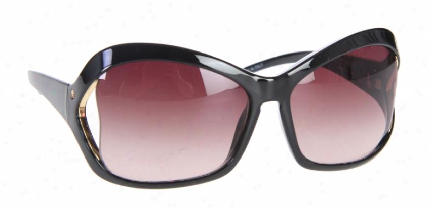 Electric Heartache Sunglasses Gloss Black /brown Gradient Lens