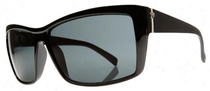 Electric Riff Raff Sunglasses Gloss Black/grey Lens