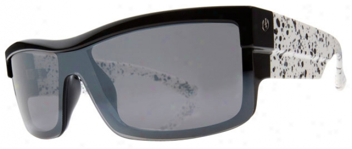Electric Shotglaws Sunglasses Black Splatter/grey Chrome Lens