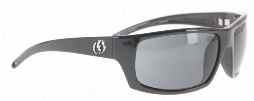 Electric Tech Xl Sunglasses Gloss Black/grey Lens