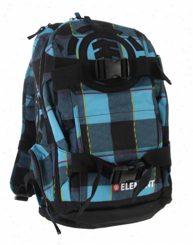 Element Moha\/e Camp Fire Backapck Turquoise Plaid