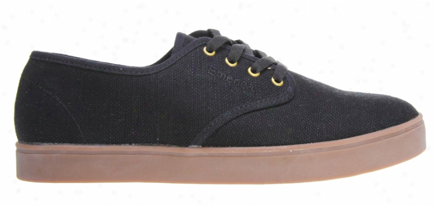 Emerica Laced Skate Shoes Black/gold