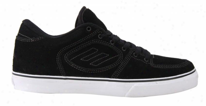 Emerica Reynolds Classics Skate Shoes Black/grey/white