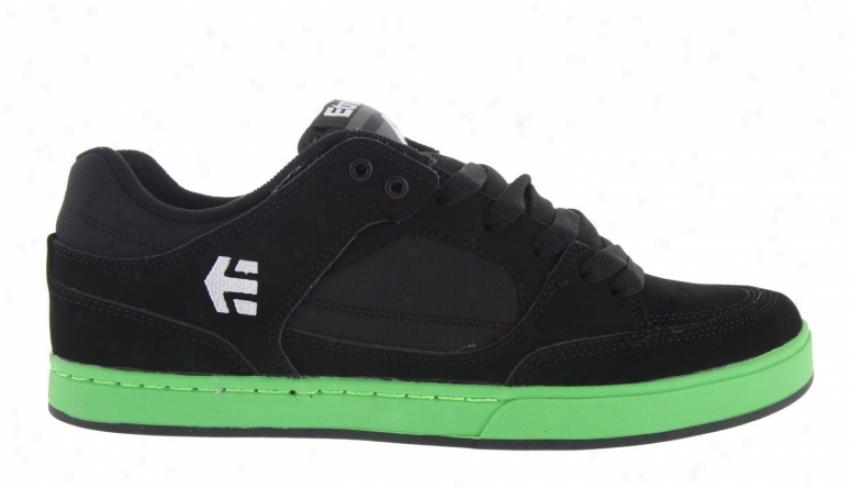 Etnies Number Skate Shoes Black/green/black