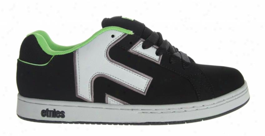Etnies Vengence Skate Shoes Black/green