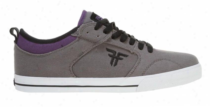 Fallen Clipper Skate Shoes Dark Grey/purple