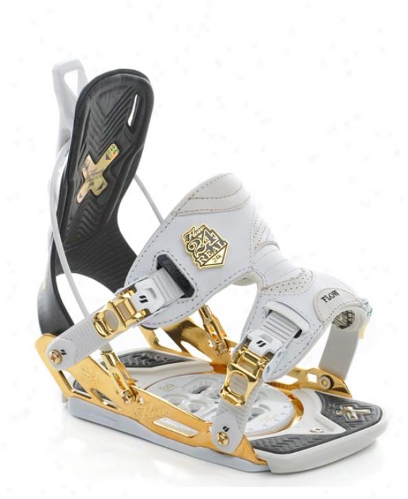 Flow 24 Real Snowboard Bindings Gold