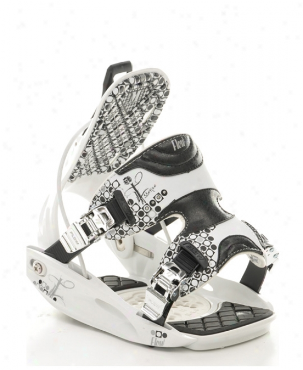 Flow Edsence Snowboard Bindings White