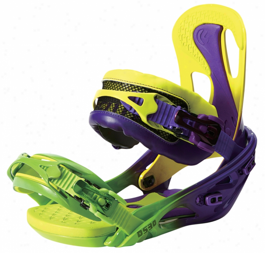 Flux Ds30 Snowboard Bindings Yellow/gradation