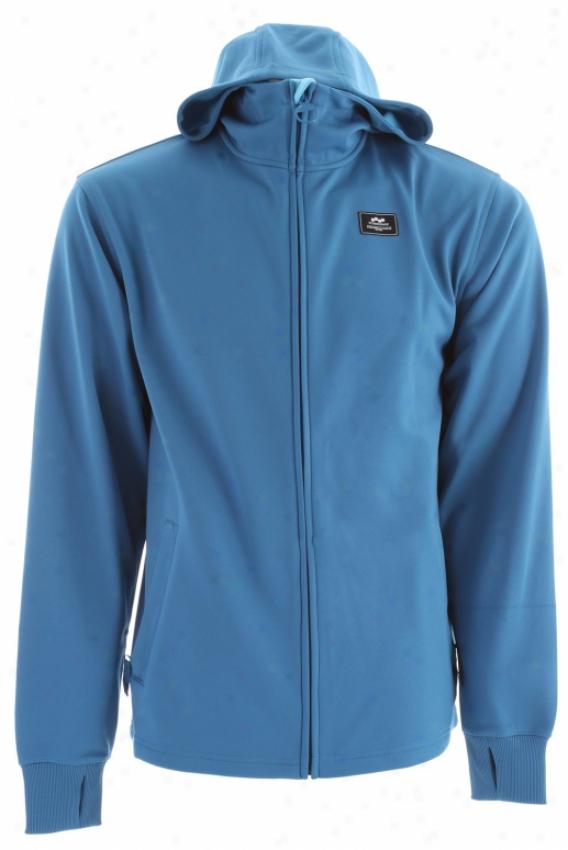 Foursquare Hinge Bonded Fleece Blue Print