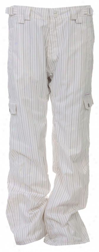 Foursquare Korina Snowboard Pants White Pinstripe
