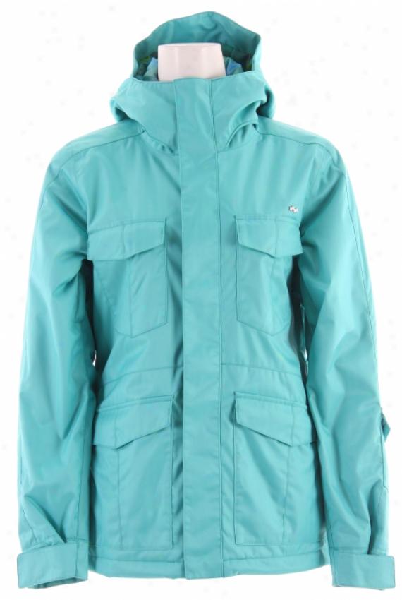 Foursquare Melissa Snowboard Jacket Helsinki Blue