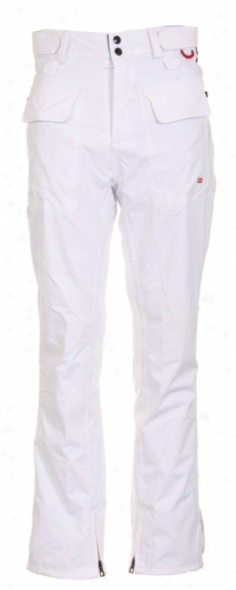 Foursquare S4 Smith Snowboard Pants White