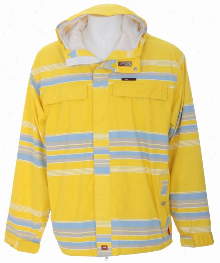 Foursquare Wright Snowboard Jacket Brilliance Polo Stripe