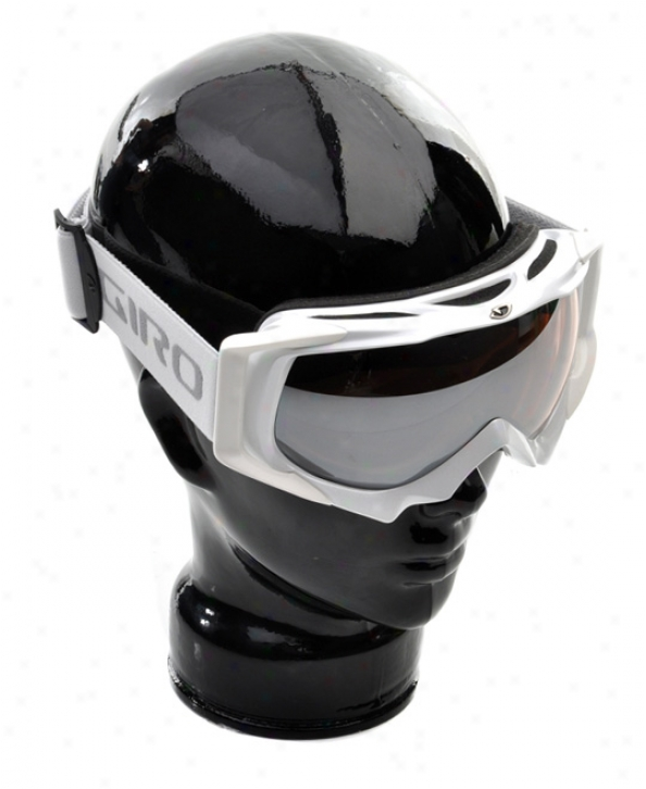 Giro Roots Snowboard Goggles White Rose Silver