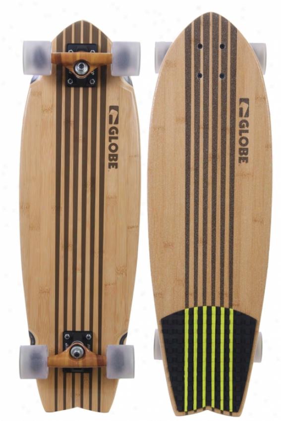 Globe Pin City Bamboo Criiser Skateboard Complete Natural