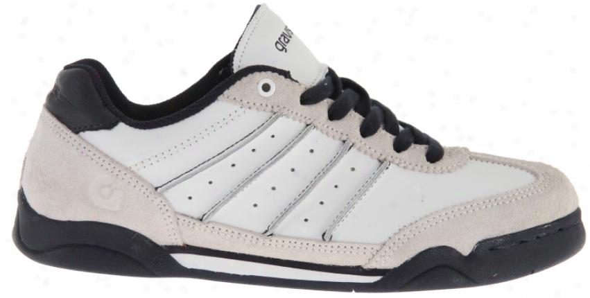 Gravis Kingpin Skate Shoes White/navy