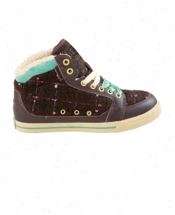 Gravis Lowdown Hi Cut Skate Shoes Chocolate Tweed