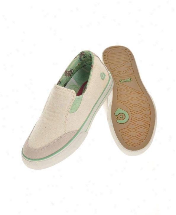 Gravis Lowdown Slip On Skate Shoes White