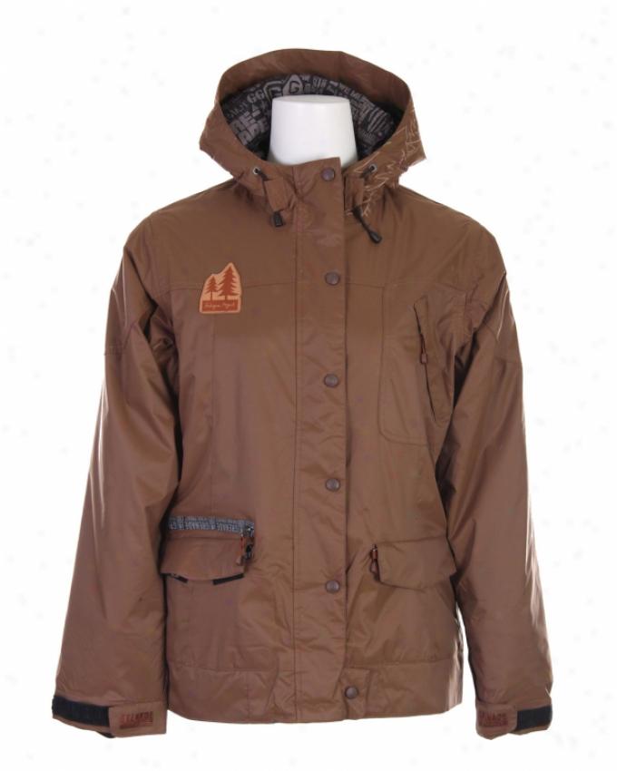 Grenade Alberta Snowboard Jacket Brown