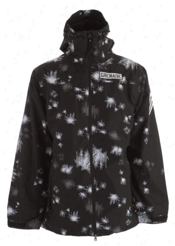 Grenade Blast Camo Snowboard Jacket Black