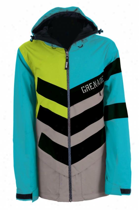 Grenade Chevron Snowboard Jacket Teal