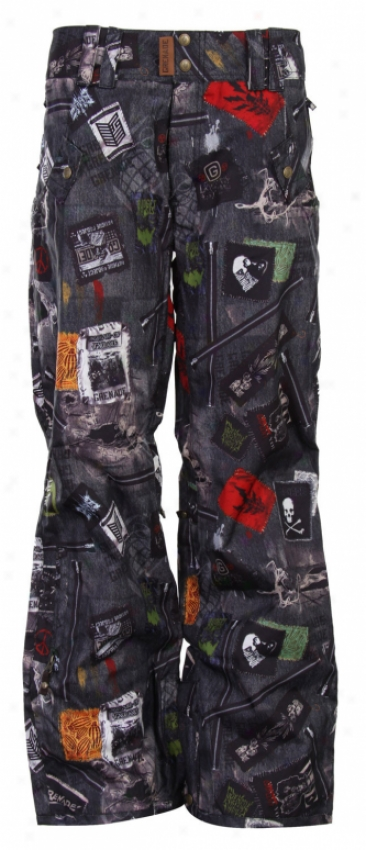 Grenade Elvira Snowboard Pants Black Denim