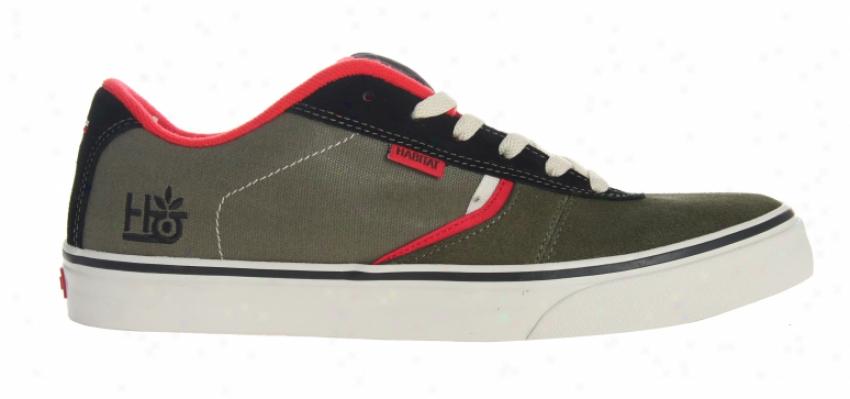 Habitat Lark Skate Shoes Insecta Olive/black