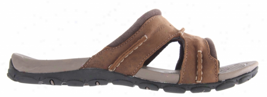 Hitec Table Mountain Slide Sandals Dark Chocolate/taupe