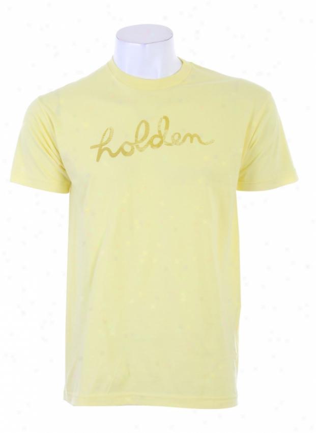 Holden Script Logo Tshirt Lemon