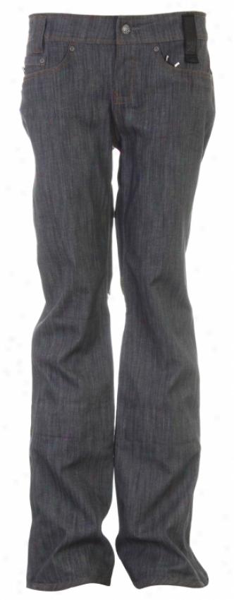 Holden Stella 3l Denim Skinny Snowboard Pants Gray