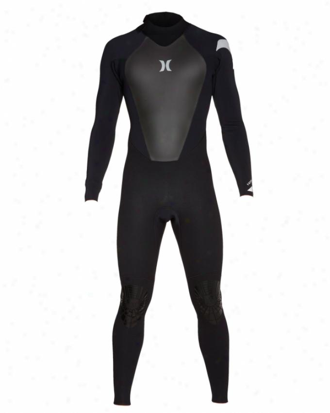 Hurley Icon 403 Again Zip Wetsuit Black